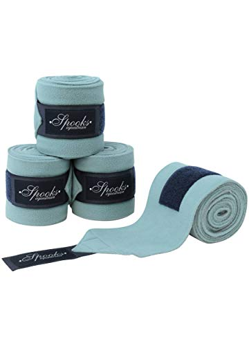 SPOOKS Bandagen 4er Set, Dressur, Elastikbandagen, Pferd warmblut vollblut cob, Beinschutz Klett - Bandages Fineline - arctic blue/navy