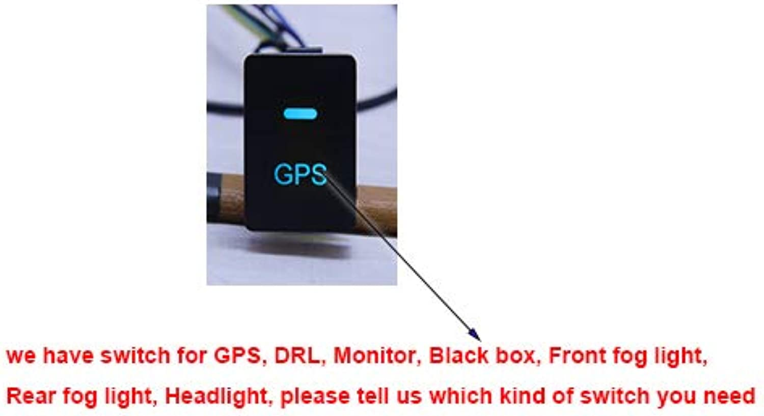 Cocas New GPS DRL Fog Light Black Box Monitor Parking Sensor Switch Button blueee Purple White red for Honda FIT Jazz HRV Accord Odyssey