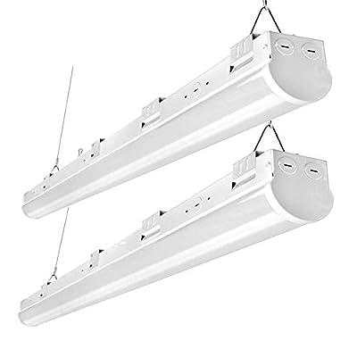 FaithSail 8FT LED Shop Lights, 110W Linkable LED Strip Light, 13800LM, 1-10V Dimmable, 5000K, Commercial Grade Big Size 8 Foot Linear Ceiling Lighting Fixtures for Warehouse, Garage, Workshop, 2 Pack