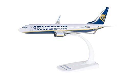 herpa 609395 609395-Ryanair Boeing 737-800, Wings/Flugzeug zum Sammeln und Basteln und als Geschenk, mehfarbig