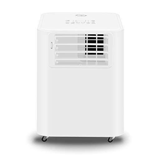 Klimaanlage Mobiles Klimagerät, Doppel-Schlauch Modell, kühlen, Luftentfeuchter, lüften, Ventilator - 9000 BTU/h (2.600 Watt) - Klima mit Fernbedienung, 24h Timer, Nachtmodus, EEK: A, Räume bis 25 qm