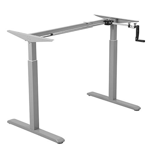 Maclean MC-790 Schreibtischgestell Bürotischgestell Manuell Höhenverstellbar Tischgestell bis 60kg max. Höhe 120cm, Metall