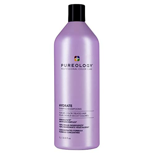 Pureology Hydrate Shampoo | For Dry, Color-Treated Hair | Hydrates & Strengthens Hair | Sulfate-Free | Vegan | Updated Packaging | 33.8 Fl. Oz
