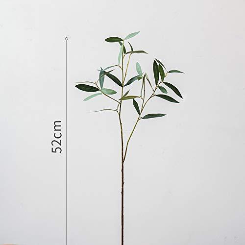 yueyue947 Volantino Ramo d'ulivo/Decorazione Floreale Artificiale pianta Verde/Set Floreale/volantino (2 forche)