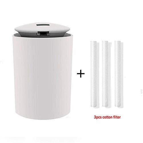 EDCV-luchtbevochtiger Luchtbevochtiger met nachtlampje Elektrische aromatherapie 250ML Essentiële luchtaroma-olieverspreider, wit-3 stuks filter