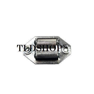 TLDSHOP® horizontale gordelgeleiding voor rolluiken van metaal met wielen van ijzer 5 stuks