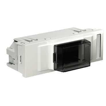 Schneider INS68104 inbouwdoos DIN apparaten wit voor 50 mm opening vooraan