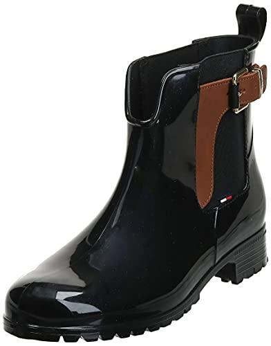 Tommy Hilfiger O1285XLEY 2Z2, Botines Mujer, Negro (Black-Winter Cognac), 38 EU