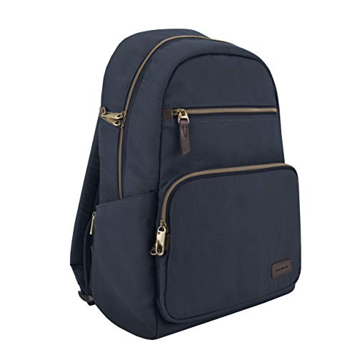 Travelon Unisex's Anti-Theft Courier Slim Backpack, Navy, One size