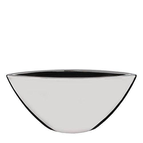 Mica Decorations Blumentopf Kyra Silber oval Keramik - L 45 x B 14,5 x H 15 cm