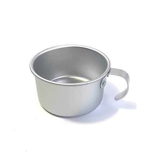 Vlook 4Pcs Portable Cup, 9Cm Aluminium kleine Wasserbecher, mit Griff, leicht und tragbar langlebig, für Camping und Reisen Bergsteigen