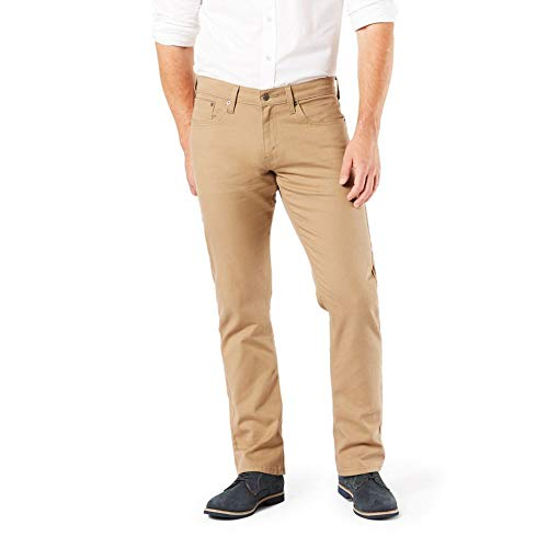 Signature by Levi Strauss & Co. Gold Label Men's Regular Straight Fit Jeans, British Khaki, 32W x 32L