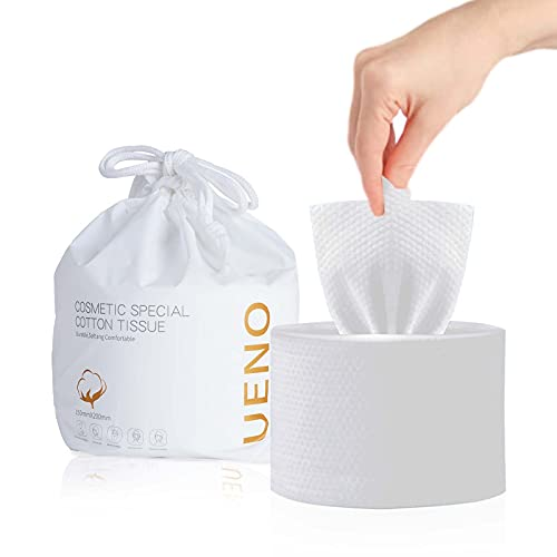 120PCS Toallas Facial Desechables100% Algodón Discos Reutilizables Natural Y Biodegradable Secas Sin Pelusa Para Todo Tipo De Pieles