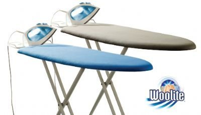 - Woolite Tri-Leg Ironing Board with Polyester felt Padding 1 Piece, Assorted colors Blue/Gray