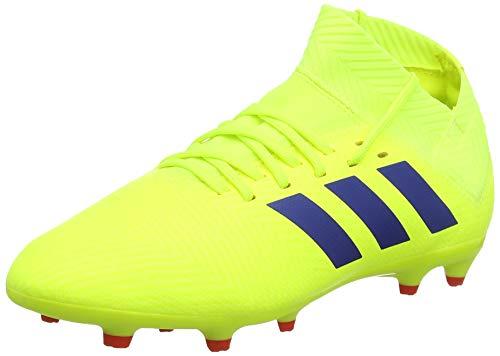 Adidas Nemeziz 18.3 FG J, Zapatillas de Fútbol para Niños, Amarillo (Solar Yellow/Football Blue/Active Red Solar Yellow/Football Blue/Active Red), 36 EU