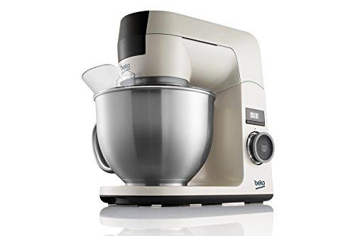 Beko KMD3102W BekoChef® - Robot de Cocina, Bol 4.6 Lt en Acero Inox con Asa, 1000W, 12Velocidades, Temporizador Digital, Beige - Acero Inox