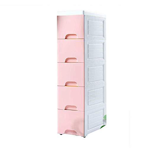 Armoire de rangement de cuisine de couture de couture, boîte de stockage compacte de cinq couches avec le tiroir, bac de stockage de sous-vêtements imperméable en plastique pour la salle de bains, sal