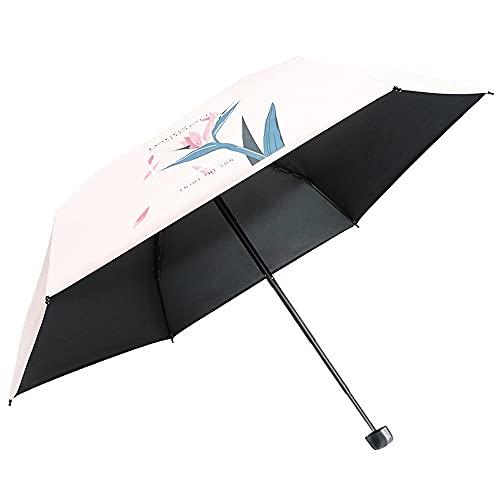 Ziayai Mini paraguas portátil de 5 descuento ultraligero paraguas de bolsillo soleado y lluvioso doble propósito para hombre y mujer paraguas plano protección UV y plegable portátil paraguas