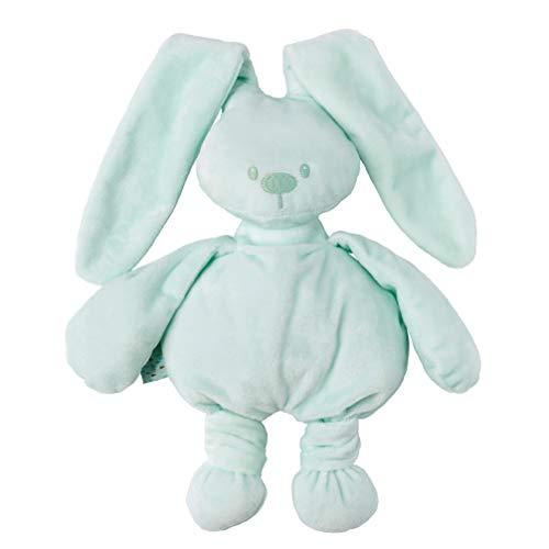 Nattou Lapidou Conejo de peluche , Compañero desde el nacimiento, 36 cm, Verde menta