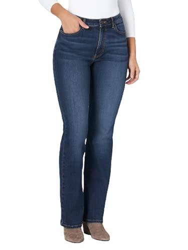 Wrangler Women's High Rise True Straight Fit Jean, Stockton, 14W x 34L