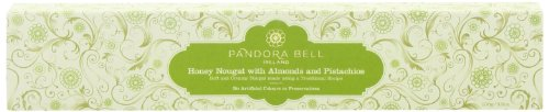 Pandora Bell - Torrone bianco con mandorle e pistacchi - 100g