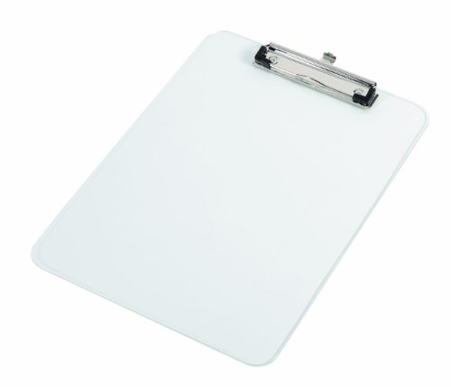 Alba Platrans - Portapapeles de plástico con clip para DIN A4 (22,5 x 31,5 cm), transparente