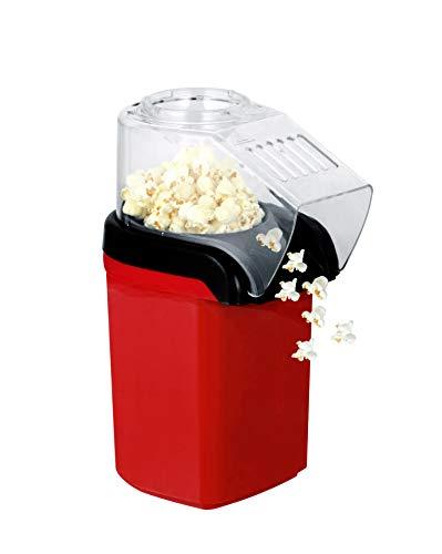 AIQQ Maquina de Palomitas Maiz-100{161a60a352172413d12089a485b73432d46b2b721e49d1b597834b351669afe3} Libre Aceite Para Hacer Popcorn,Saludable,Fácil limpiar,Popcorn Maker,1200W Rojo Party Time Maquina Palomitas