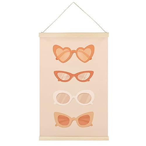 LAMTOR Gafas de sol Art Melocotón Colgante Marco de Pergamino Mural Lienzo Decoración de Pared Perchas de Hogar Posters 50,8 x 76,2 cm