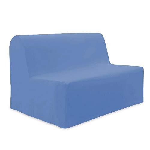 Soleil d'ocre Fodera per divano letto in cotone, PANAMA Blu