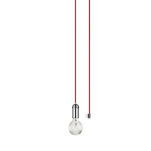 Globe Electric 65980 Leila Pendant, Red