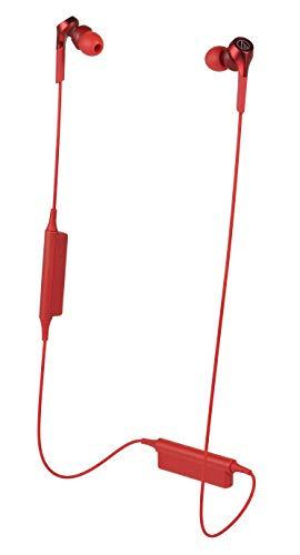 audio-technica SOLID BASS 重低音 ワイヤレスイヤホン レッド ATH-CK…