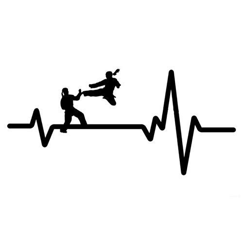 Auto autoaufkleber aufkleber KARATE Uniform Jump Kick Girl Herzschlag Vinyl 16.8CM * 7.9CM 1 Stück