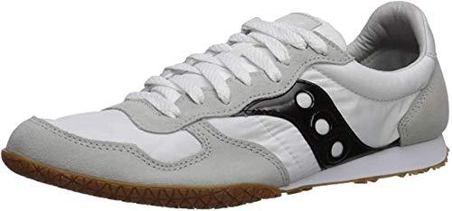 Saucony Men's Bullet Sneaker, White/Black/Gum, 10 M US