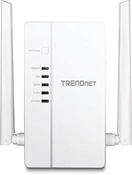 TRENDnet Wi-Fi Everywhere Powerline 1200 AV2 AC1200 Wireless Access Point Dual-Band 3 x Gigabit Ports WiFi Clone Cross Compatible with Powerline 600/500/200 TPL-430AP White