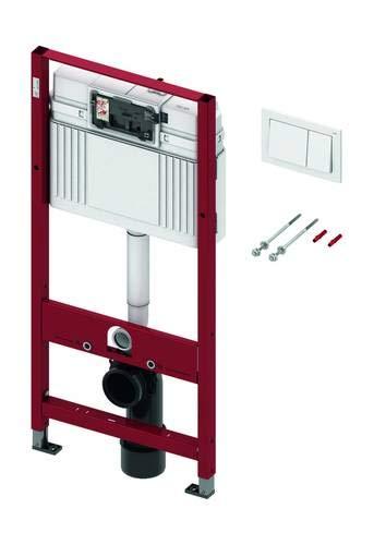 TECE Unterputz Spülkasten WC Set TECEbase Vorwandelement Zweimengen Betätigungsplatte in weiß