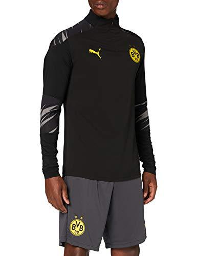 Puma BVB Stadium 1/4 Zip Top T-Shirt Homme Puma Black/Asphalt/Home FR : L (Taille Fabricant : L)