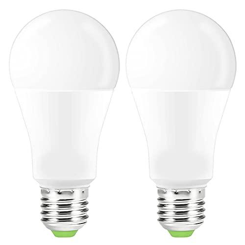 JZlamp Dimmable 15W B22 E27 WiFi Bombilla Inteligente LED Luz de aplicación Operación de la aplicación Control Asistente de Voz Despierta Luz de Noche de luz Inteligente (2 PCS)