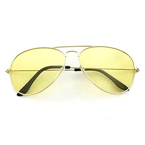 Lucky DuDu Gafas de Pesca Hombres Mujeres Gafas Equitación Gafas de Sol Outdoor Deporte Ejecula Pesca Accesorios Camping Conducción Clip Eyewear (Color : Yellow)