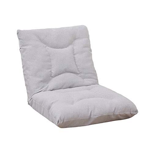 Bdesign Sillón reclinable tumbonas sofá Cama Soltero Silla de Cama Regulable ángulo Plegable Sala de Estar balcón sofá Silla (Color : Light Gray)