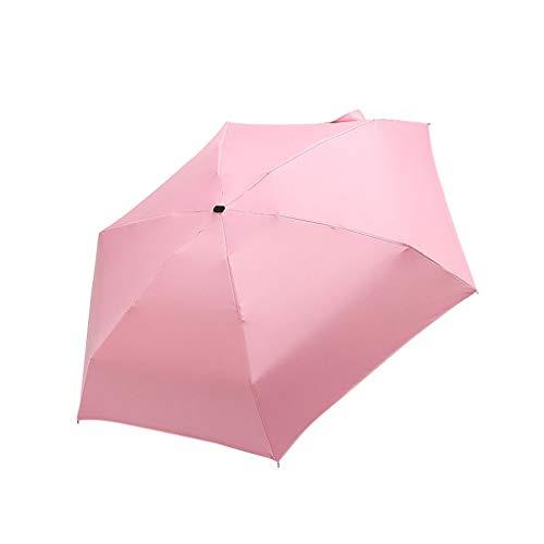Paraguas de viaje resistente al viento, plegable, liviano, para hombres y mujeres, mini paraguas para lluvia y sol, doble toldo ventilado para mochilas, maletas, maletines, coches