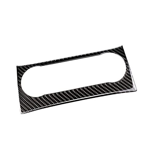 LIFMAGIC 자동차 탄소섬유 공기 상태 패널 오디오 제어 프레임버 장식 트림에 맞는 메르세데스 벤츠 C 클래스 W204 2010 2011 2012 2013 년(컬러 이름:B 형)