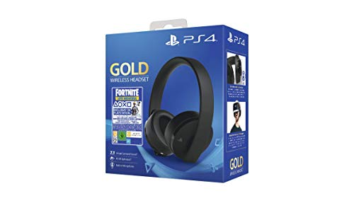 Sony - Gold Edición Headset Fortnite VCH 2019 (PS4), Color Negro