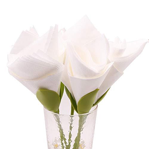 Qingb Origami Flower Napkin Rose Paper Towel Flower Tool Roll Flower Dish Household Dinner Table Napkins for Weddings Napkin Wedding,1pcs