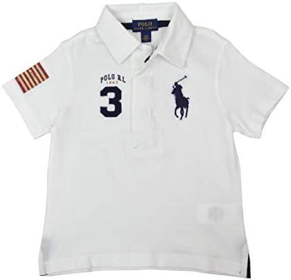 Polo Ralph Lauren Boys Big Kids Big Pony USA Polo Shirt White Blue X Large 18 20 product image