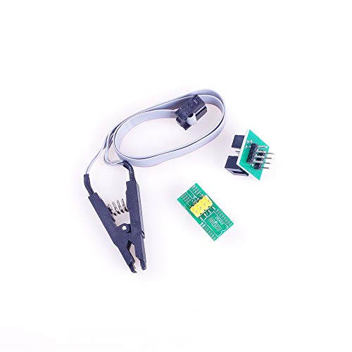 ANGEEK SOP8 IC Test Clip with Cable and Testing Clip Socket Adpter SOP8 Test Clip mit Kabel inkl. AdapterBoard
