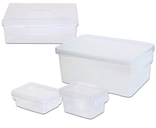 Betzold 758030 - Aufbewahrungsboxen-Set - Boxen-Set Allzweckboxen Ordnungsboxen