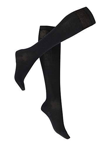 Vogue Support Travel Socks Stützstrümpfe, kniehohe Damen kompression Flugstrümpfe, 1 Paar,Schwarz (1210 Black),39-42