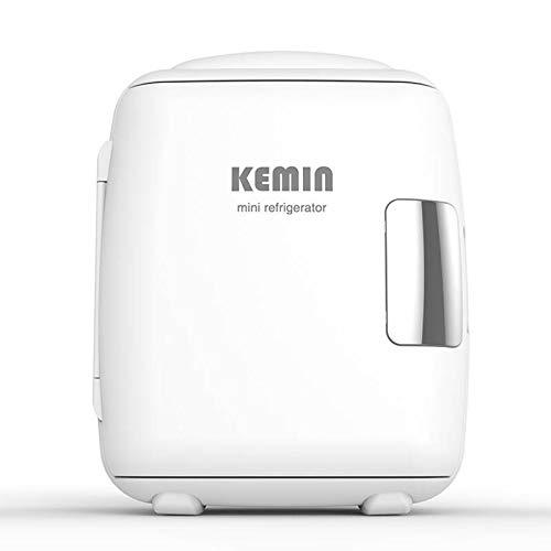 GAOXIAOMEI Mini Refrigerador, Mini Nevera Portátil para El Skincare 4L 6 Latas De Refrescos, Mini Neveras 220V/12V para Enfriar Y Calentar