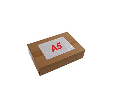 Abdeckung 100 A5 Aktentasche transparente Kleber - selbstklebende Abdeckung Versand 225 x 165 mm (A4 gefaltet in zwei)