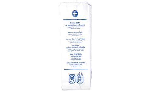 franz mensch Papier-Hygienebeutel, bedruckt, weiß, Sie erhalten 1 Packung, Packungsinhalt: 100 Stück